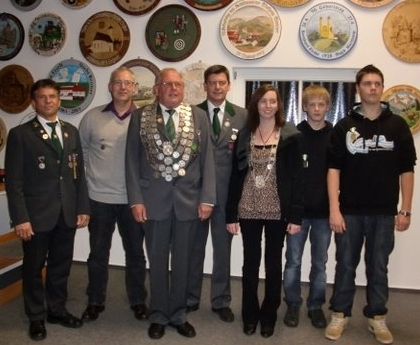 Schützenkönig und Jugendschützenkönig 2011 mit Ritter