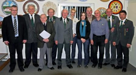 Geehrte bei der Jahreshaiptversammlung 2012 mit neuem OSM Josef Wagner (ganz links)